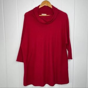 Eileen Fisher Organic Cotton Red Oversized Sweater